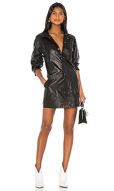 Leather Cargo Dress FRAME $950