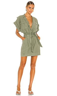 Twisted Shirt Dress FRAME $295