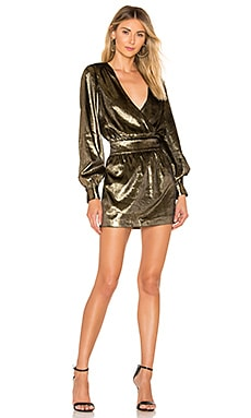 Metallic Velvet Dress FRAME $233