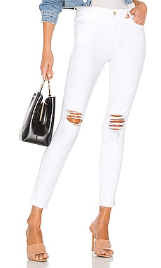 JEAN SKINNY LE HIGH SKINNY CROP FRAME $225 BEST SELLER