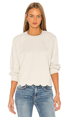 Scallop Crew Sweatshirt FRAME $185 BEST SELLER