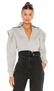 Sporty Zip Sweatshirt FRAME $268 NEW