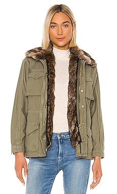 Faux Fur Lined Service Jacket FRAME $425