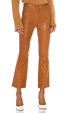 Leather Le Crop Mini Boot Pant FRAME $950 Collections