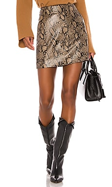Embossed Leather Skirt FRAME $417