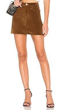 Купить Юбку le mini - FRAME коричневого цвета