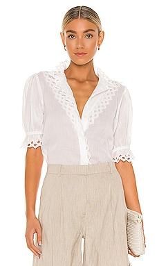 Embroidered High Neck Short Sleeve FRAME $298