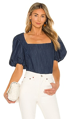 Nina Cropped Blouse FRAME $288 Collections