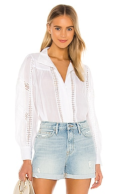 Panel Lace Button Up Top FRAME $285