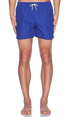 FARAH VINTAGE The Monroe Plain Swim Short in Clematis