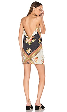 Nami Mini Dress in Nami Floral Black