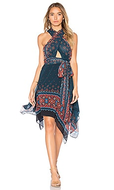 Libali Black Dress in Libali Sea Blue
