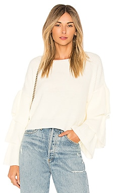 Ruffle Sleeve Top FARM $97
