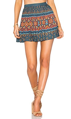Libali Pleated Mini Skirt in Libali Sea Blue