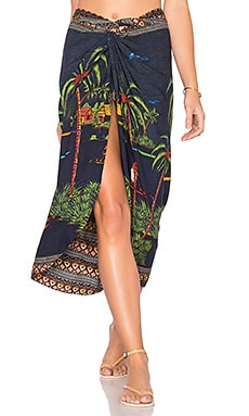 Life River Pareo Skirt in Navy Multi