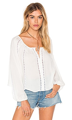 FARM Bata Lace Top in White