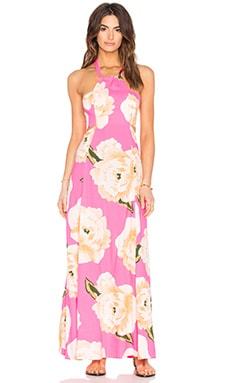 FARM Maxi Dress in Pink Shock Roda