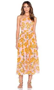 FARM Halter Dress in Print Pink Boto Chita