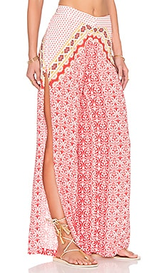 FARM Wide Leg Pant in Off White Mahi