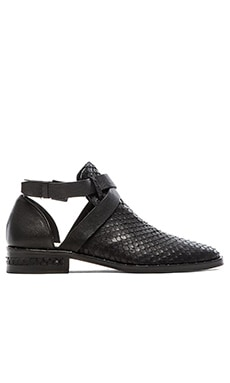 Freda Salvador Spark Flat in Black Calf