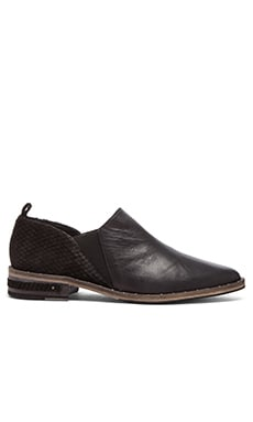 Freda Salvador Spin Loafer in Black Calf & Black Snake