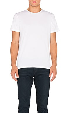 FRAME Denim Classic Crew Neck Tee in Blanc