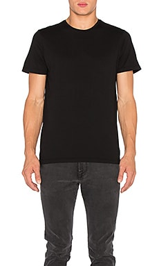 FRAME Denim Classic Crew Neck Tee in Noir