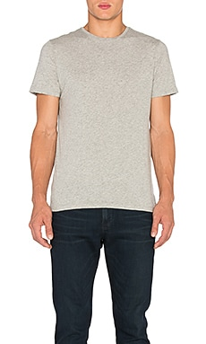 FRAME Denim Classic Crew Neck Tee in Gris
