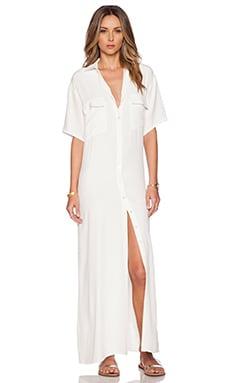 FRAME Denim Le Shirt Dress in Off White