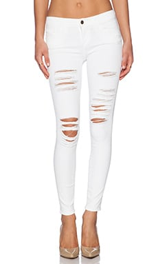 FRAME Denim Le Colored Ripped in Blanc