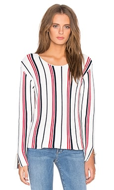 FRAME Denim Le Sweater in Vertical Stripe