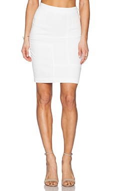 FRAME Denim Le High Pencil Skirt in Blanc
