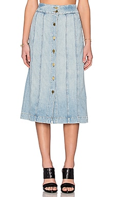 FRAME Denim Le Panel Skirt in Belfast