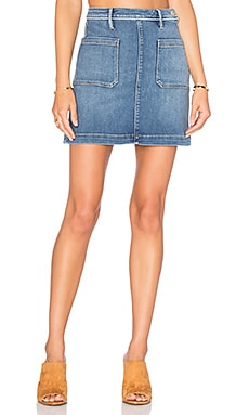 FRAME Denim Le Patch Pocket Skirt in Greenway