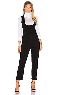 FRAME Denim Le Waist Coat Jumpsuit in Film Noir