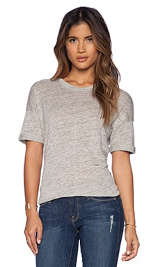 FRAME Denim Le Boyfriend Tee in Gris