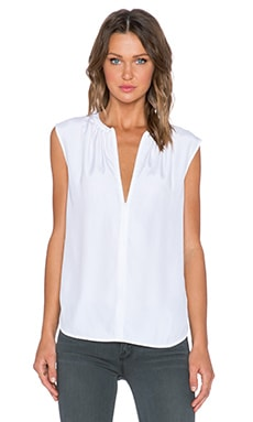 FRAME Denim Le Zip Tank in Blanc