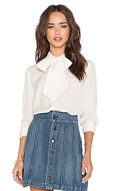FRAME Denim Le Bow Tie Shirt in Gardena