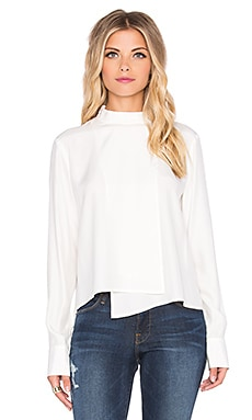 FRAME Denim Le Asymmetric Shirt in Gardena