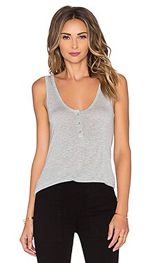 FRAME Denim Le Henley Tank in Gris
