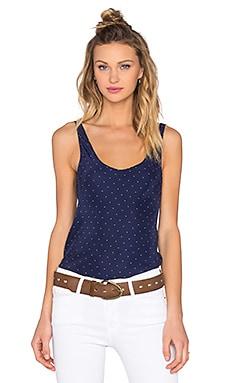 FRAME Denim Le Mirror Tank in Navy Dot