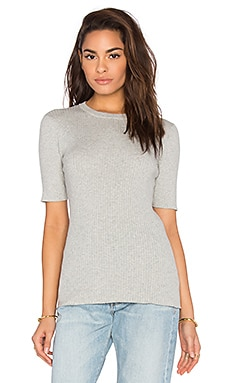 FRAME Denim Le Crew Sweater Tee in Gris