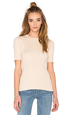 FRAME Denim Le Crew Sweater Tee in Nude