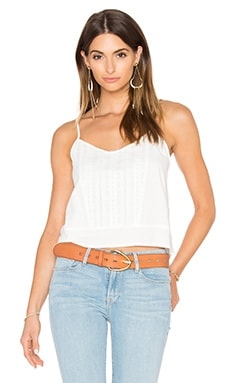 FRAME Denim Le Lace Cami in Blanc