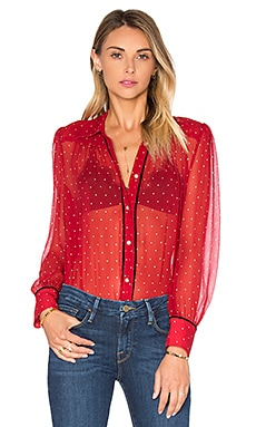Le Peasant Polka Dot Top