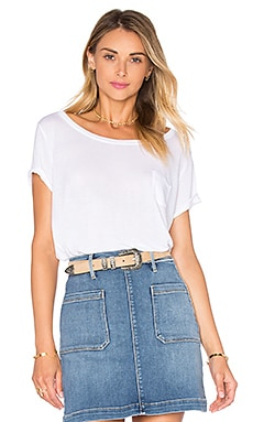 FRAME Denim Le Boxy Tee in Blanc