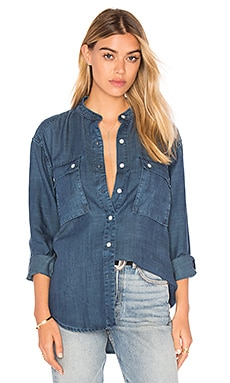 FRAME Denim Le Troop Denim Button Up in James