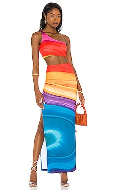 X REVOLVE Tala Midi Dress Farai London $165 NEW