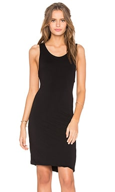 Razor Tank Dress in Black
