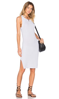 Tiger Tank Dress in Ice Grey